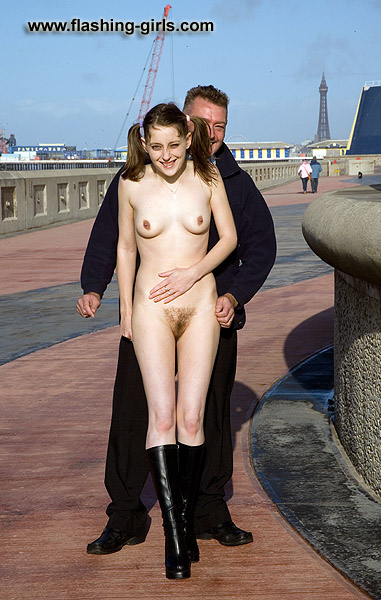 british girls nude in public